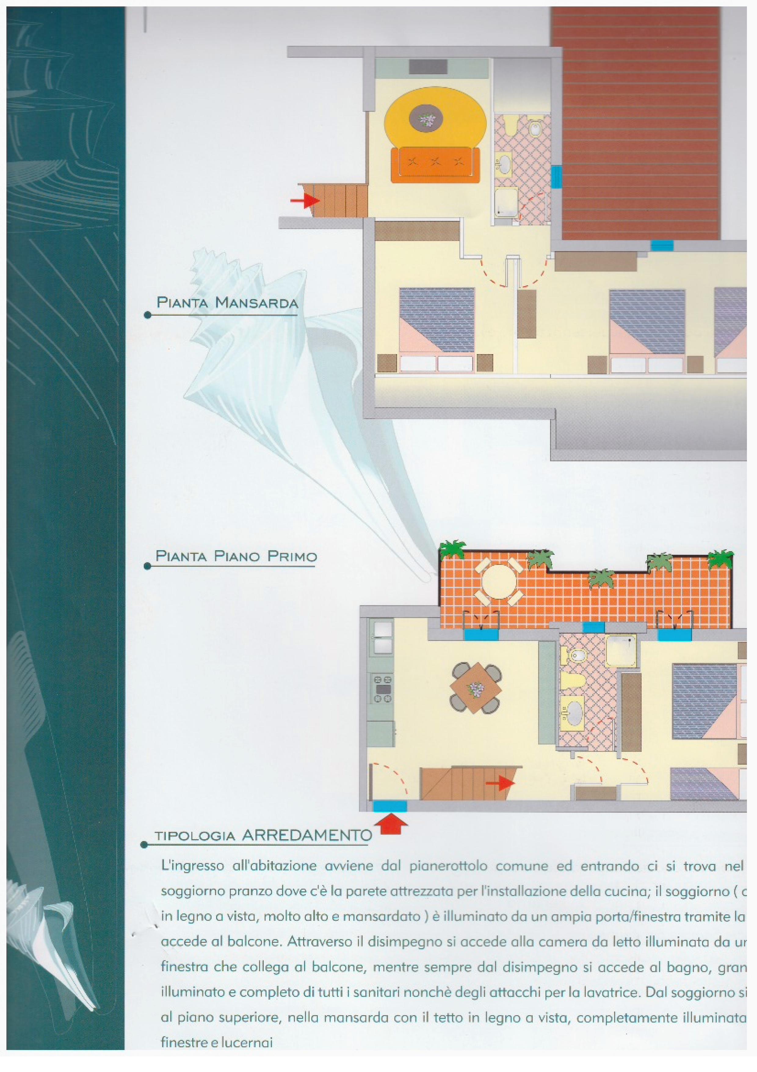 Bilocale con mansarda a pinarella di cervia agenzia for Arredo bagno cervia