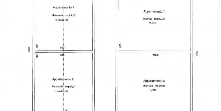 Ipotesi di progetto interrato mansarda