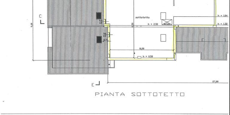 mansarda planimetria