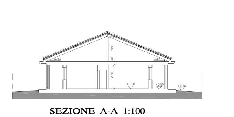 5 Sezione frontale villa B